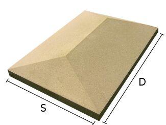 Daszek betonowy czterospadowy na słupki ogrodzeniowe 34x46 cm (kapelusz betonowy)
