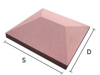 Daszek betonowy czterospadowy na słupki ogrodzeniowe 44x44 cm (kapelusz betonowy)