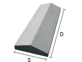 Daszek betonowy dwuspadowy na mury i murki ogrodzeniowe 18x50 cm (kapelusz betonowy)