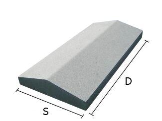 Daszek betonowy dwuspadowy na mury i murki ogrodzeniowe 25x50 cm (kapelusz betonowy)