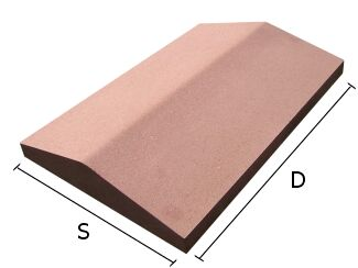 Daszek betonowy dwuspadowy na mury i murki ogrodzeniowe 34x50 cm (kapelusz betonowy)