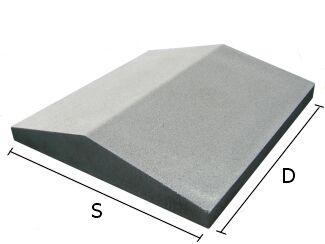 Daszek betonowy dwuspadowy na mury i murki ogrodzeniowe 44x44 cm (kapelusz betonowy)
