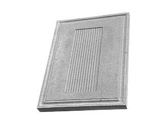 Daszek betonowy na słupki ogrodzeniowe (kapelusz betonowy) - okapnik
