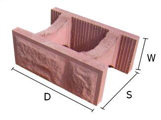 Pustak, bloczek betonowy do budowy murów 28x37 cm
