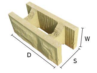 Pustak, bloczek betonowy do budowy murów 19x37 cm