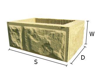 Pustak, bloczek betonowy do budowy słupków ogrodzeniowych 28x40 cm