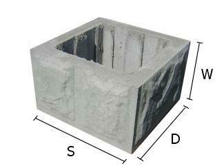 Pustak, bloczek betonowy do budowy słupków ogrodzeniowych 28x28x15 cm