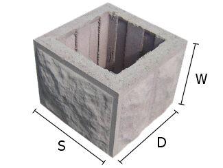 Pustak, bloczek betonowy do budowy słupków ogrodzeniowych 28x28x20 cm