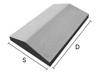 Daszek betonowy dwuspadowy na mury i murki ogrodzeniowe 30x50 cm (kapelusz betonowy)