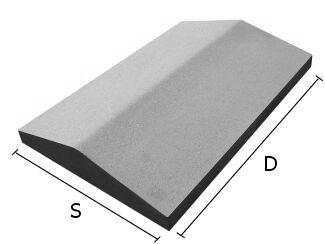 Daszek betonowy dwuspadowy na mury i murki ogrodzeniowe 39x50 cm (kapelusz betonowy)