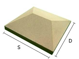 Daszek betonowy czterospadowy na słupki ogrodzeniowe 39x39 cm (kapelusz betonowy)