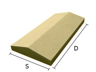 Daszek betonowy dwuspadowy na mury i murki ogrodzeniowe 22x50 cm (kapelusz betonowy)