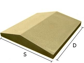 Daszek betonowy dwuspadowy na mury i murki ogrodzeniowe 50x50 cm (kapelusz betonowy)
