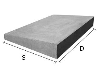 Daszek betonowy jednospadowy na mury i murki ogrodzeniowe 34x50 cm (kapelusz betonowy)