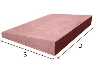 Daszek betonowy jednospadowy na mury i murki ogrodzeniowe 50x50 cm (kapelusz betonowy)
