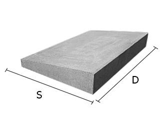 Daszek betonowy jednospadowy na mury i murki ogrodzeniowe 18x50 cm (kapelusz betonowy)