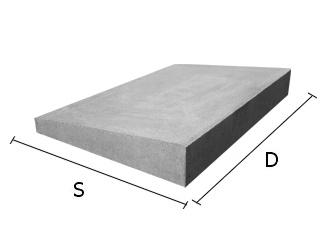 Daszek betonowy jednospadowy na mury i murki ogrodzeniowe 22x50 cm (kapelusz betonowy)