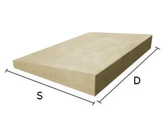 Daszek betonowy jednospadowy na mury i murki ogrodzeniowe 30x50 cm (kapelusz betonowy)