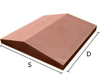 Daszek betonowy dwuspadowy na mury i murki ogrodzeniowe 47x47 cm (kapelusz betonowy)