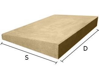 Daszek betonowy jednospadowy na mury i murki ogrodzeniowe 44x44 cm (kapelusz betonowy)