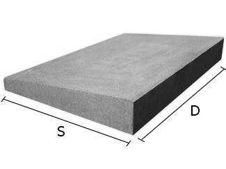 Daszek betonowy jednospadowy na mury i murki ogrodzeniowe 47x47 cm (kapelusz betonowy)