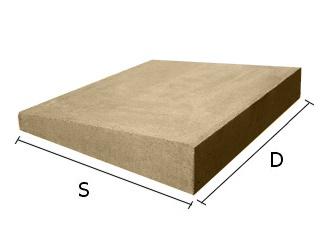 Daszek betonowy jednospadowy na mury i murki ogrodzeniowe 34x34 cm (kapelusz betonowy)